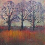 Three Trees in a Russet Field