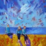 Three Figures on a Sea Wall