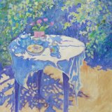 Still Life. Tea Time in the Garden.