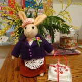 Mrs Rabbit and Her Famous Strawberry Cake under Mimosa