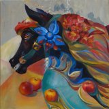 Black Horse (Horse with apples /October