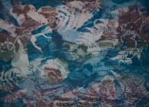 Turquoise Garden, etching aquatint