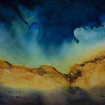 Eye of the Storm, watercolour, H56 x W76 cm