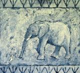 Elephant and Egret III