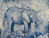 Elephant and  Egret I