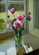 Poppies in the Morning Sun  (2008, oil on canvas, 70 x 50 cms)