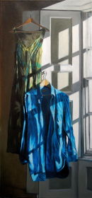 The Shirt and the Dress (2007, oil on canvas, 35 x 75 cms)