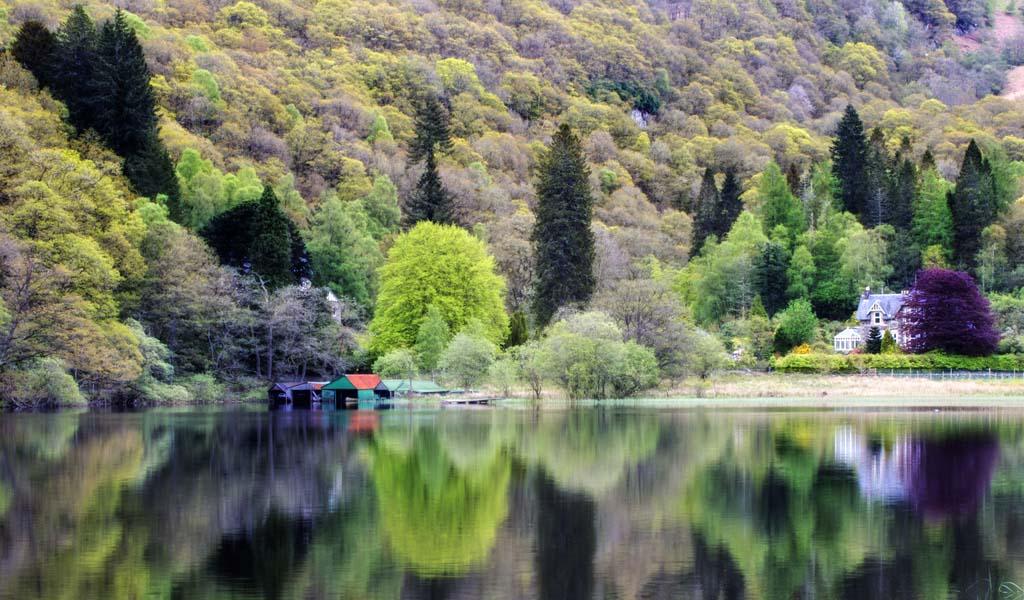 Boat Houses Loch Ard - 1