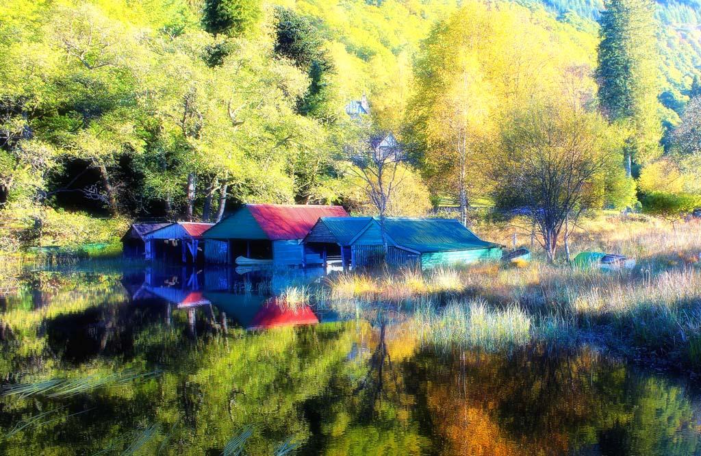 Boat Houses Loch Ard - 2