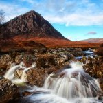 Buachaille Etive Mhor & falls of Coupall