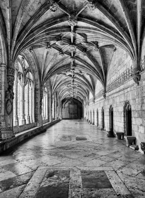 Cloisters at Jeronimo's Monastery at Belem
