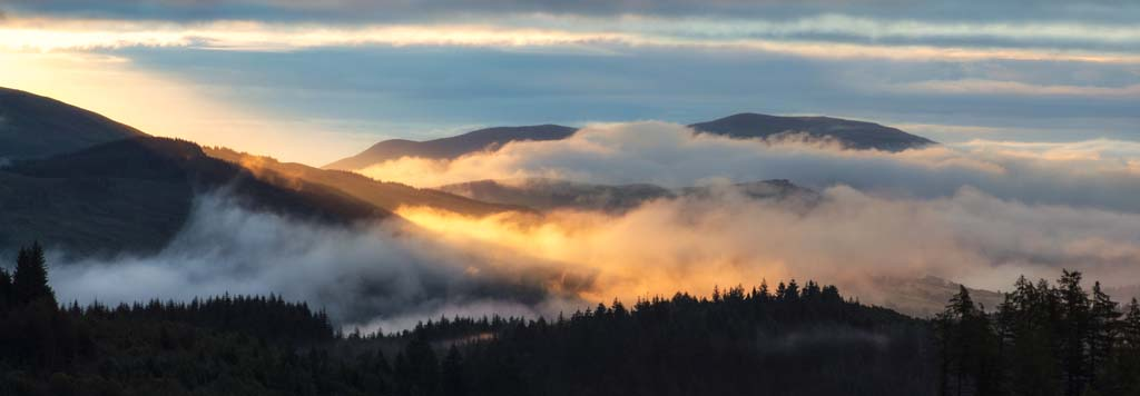 Dawn Mist over the Trossachs - 1