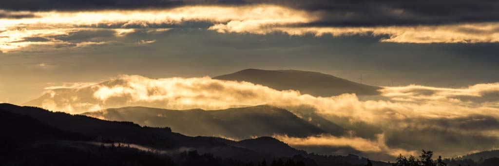 Dawn Mist over the Trossachs - 2