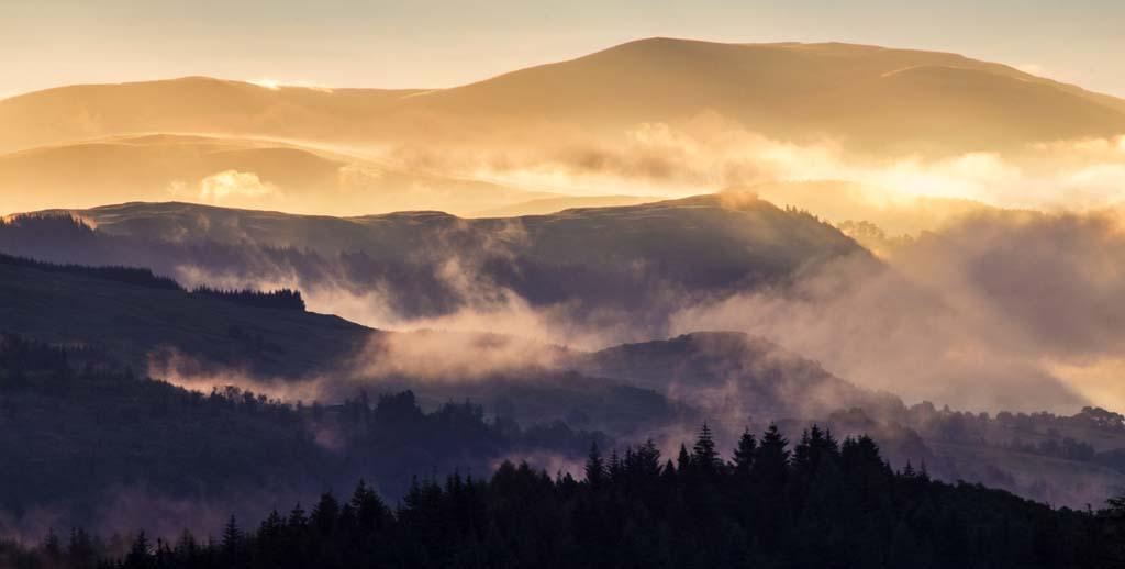 Dawn Mist over the Trossachs - 3