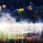Early morning mist on Loch Ard