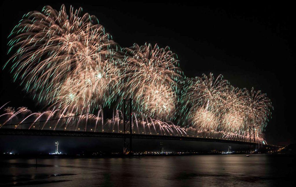 Forth Bridge Festival fireworks 13 Sept 2014 - 10