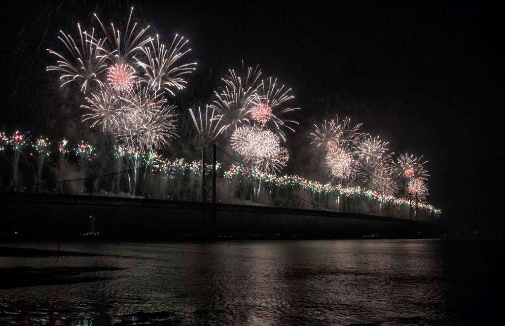 Forth Bridge Festival fireworks 13 Sept 2014 - 13