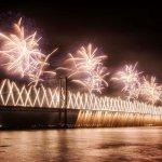Forth Bridge Festival fireworks 13 Sept 2014 - 1
