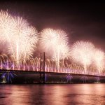 Forth Bridge Festival fireworks 13 Sept 2014 - 2