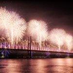 Forth Bridge Festival fireworks 13 Sept 2014 - 2