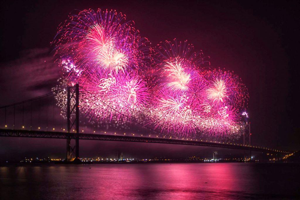 Forth Bridge Festival fireworks 13 Sept 2014 - 3