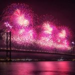 Forth Bridge Festival fireworks 13 Sept 2014 - 3