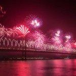 Forth Bridge Festival fireworks 13 Sept 2014 - 4