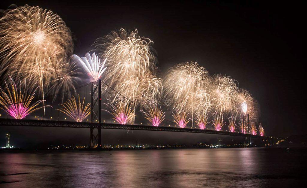 Forth Bridge Festival fireworks 13 Sept 2014 - 5