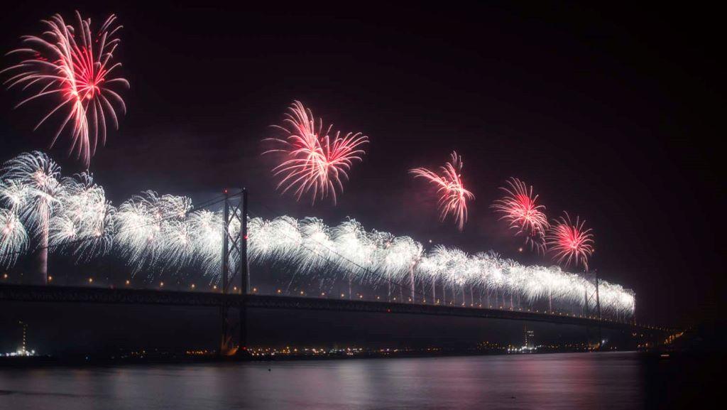 Forth Bridge Festival fireworks 13 Sept 2014 - 6
