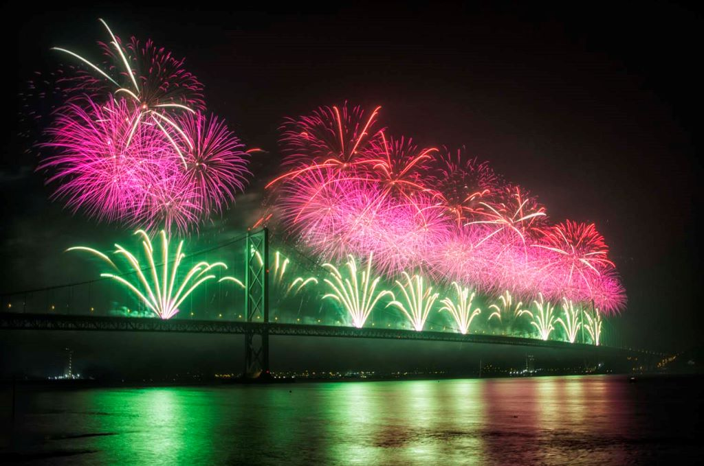 Forth Bridge Festival fireworks 13 Sept 2014 - 7