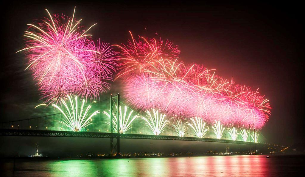 Forth Bridge Festival fireworks 13 Sept 2014 - 8
