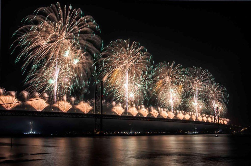 Forth Bridge Festival fireworks 13 Sept 2014 - 9