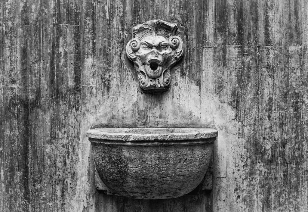 Fountain head at Castelo de Sao Jorge