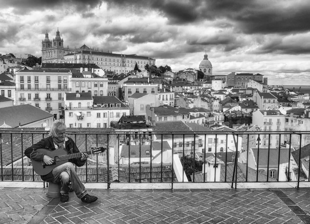 Guitar Player at Portas Do Sol, Lisbon
