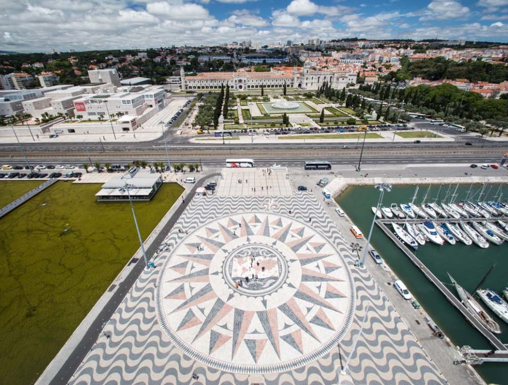Lisbon from top of Tower of Discovery - 2