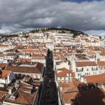 Lisbon panorama from top of Santa Justa lift - 1