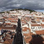 Lisbon panorama from top of Santa Justa lift - 2