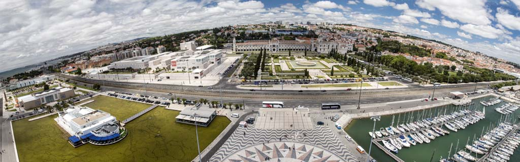 Lisbon panorama from top of Tower of Discovery