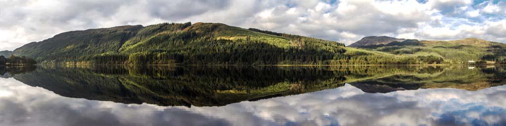 Loch Chon wide Panorama