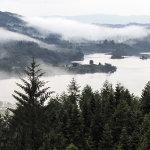 Loch Chon wreathed in mist