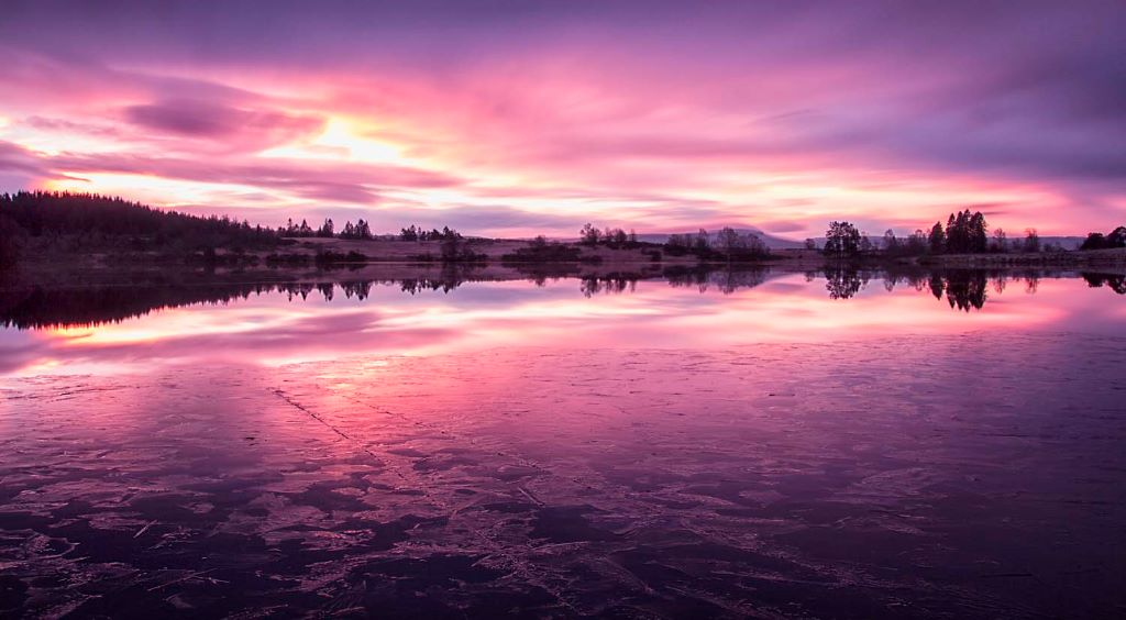 Loch Rusky twilight glow