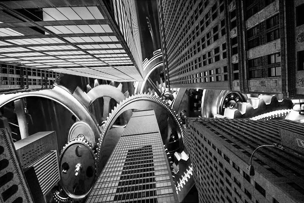 NY Buildings clock