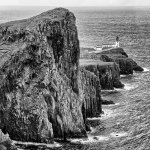 Neist Point, Skye b&w
