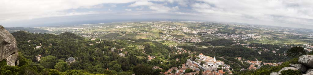 Panorama View from The Castle of the Moors at Sintra - 1
