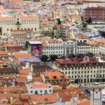 Panorama view of Lisbon from Castelo de Sao Jorge