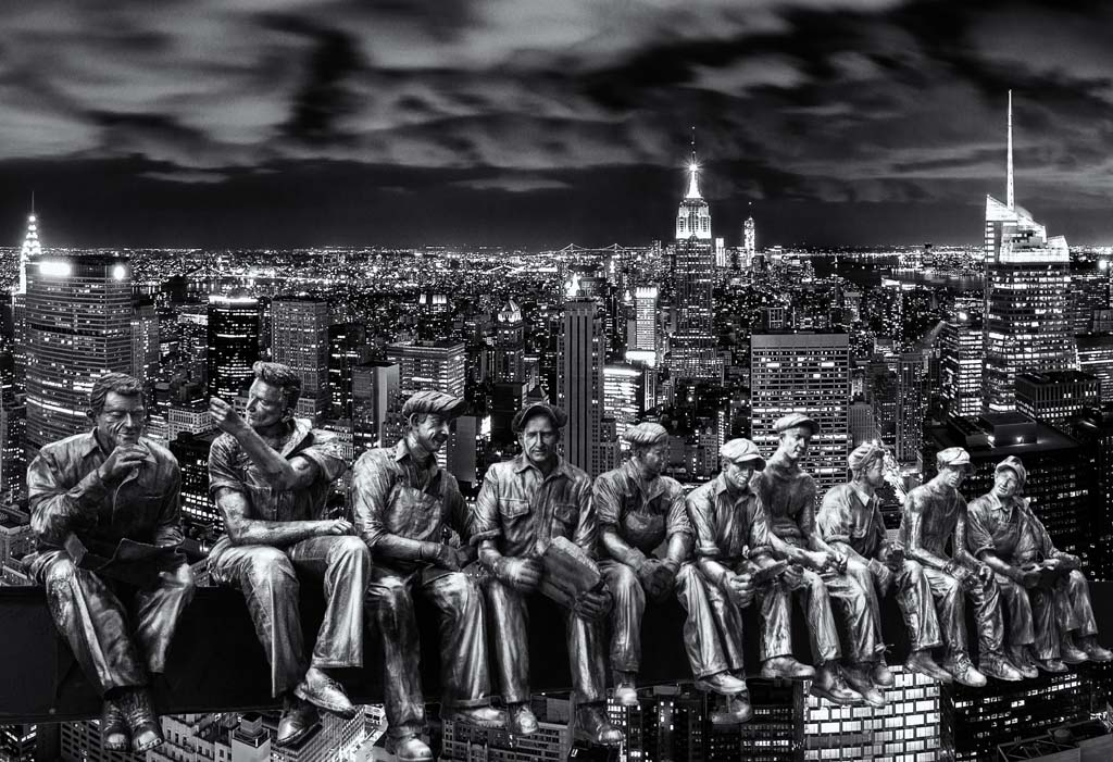 Rockefeller Men on New York Skyline