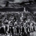 Rockefeller Men on New York Skyline