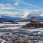 Snow on the Black Mount