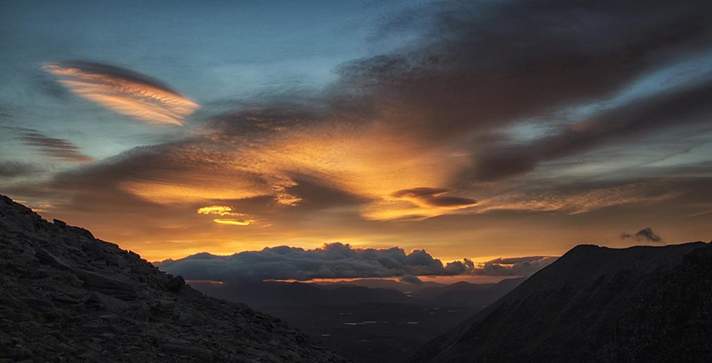Sunrise over Torridon Mountains