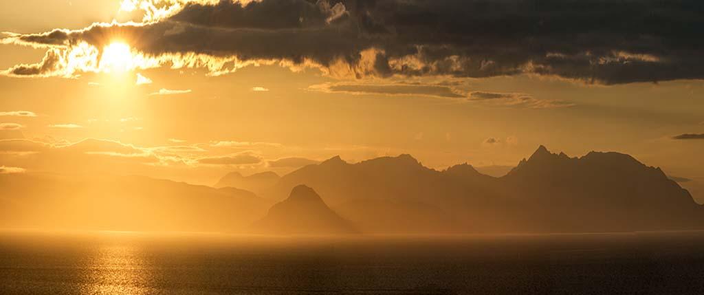 Sunset over Arran 2